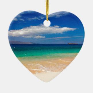 Beach Makena Maui Hawaii Ceramic Heart Decoration