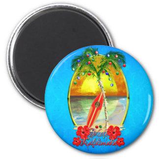 Beach Mele Kalikimaka Refrigerator Magnet