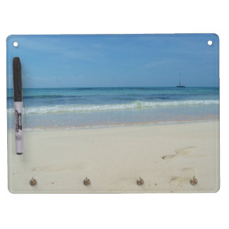Beach - Memoboard Dry Erase Board With Key Ring Holder
