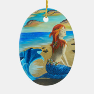 Beach Mermaid Ornament Siren Ornament