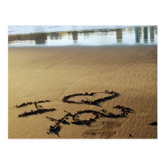 Beach Message Postcard