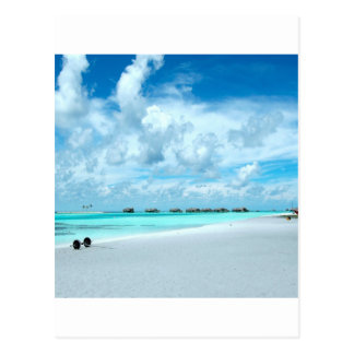 Beach Miles Maldives Postcard