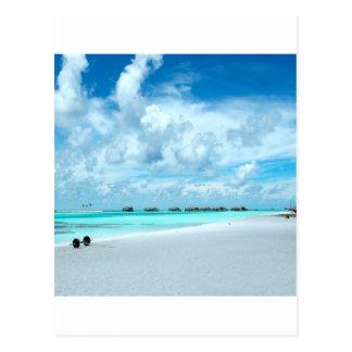 Beach Miles Maldives Postcard