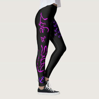 BEACH MODE LEGGINGS WITH ANCHORS THAT POP!