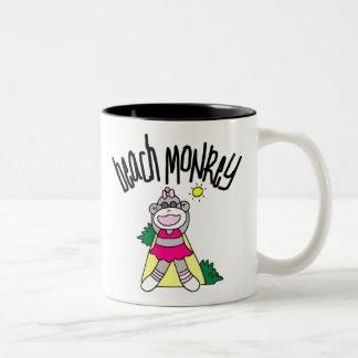 BEACH MONKEY COFFEE MUG