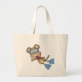 Beach Monkey Snorkeling Tshirts and Gifts Tote Bags