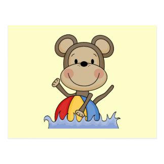 Beach Monkey Swimming T-shirts and Gifts Postcard