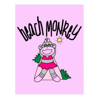 Beach Monkey Tshirts and Gifts Postcard