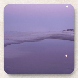 Beach Moonlight Santa Rosa Island Seashore Beverage Coasters
