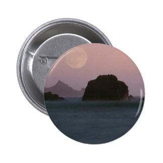 Beach Moonset Rockaway Pinback Buttons