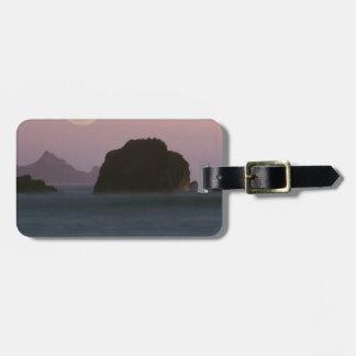 Beach Moonset Rockaway Luggage Tags
