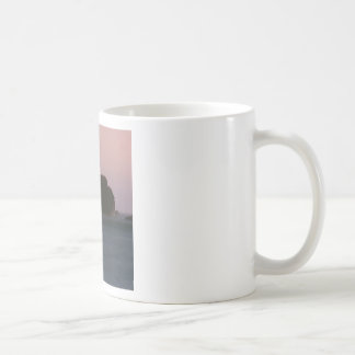Beach Moonset Rockaway Mugs