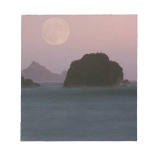 Beach Moonset Rockaway Memo Pads