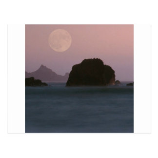 Beach Moonset Rockaway Postcards