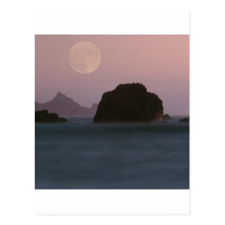 Beach Moonset Rockaway Post Cards