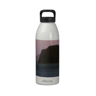 Beach Moonset Rockaway Reusable Water Bottles