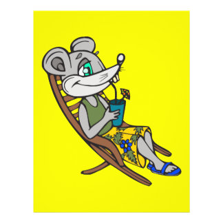 Beach Mouse Flyer Design