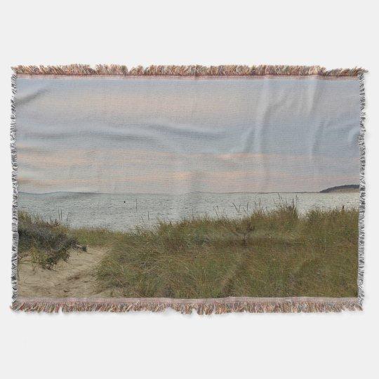 Beach near sunset throw blanket