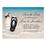 """Beach Ocean """"Mr. and Mrs."""" Wedding Save the Date"""