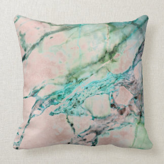 Beach Ocean Pink Rose Gray Mint Silver Gold Marble Cushion