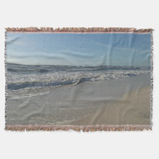 Beach Ocean Print Throw Blanket