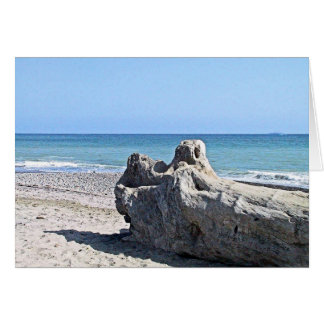 Beach Ocean Scene Greeting Card