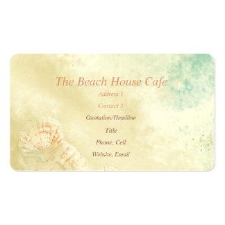 Beach Ocean Seaside art Business Card Cafe