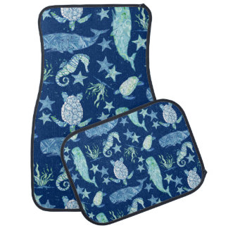 Beach Ocean Summer Fun Whale Sea Turtle Seahorse Car Mat