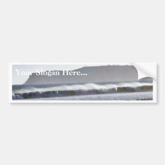 Beach Ocean Waves Sand Bumper Sticker