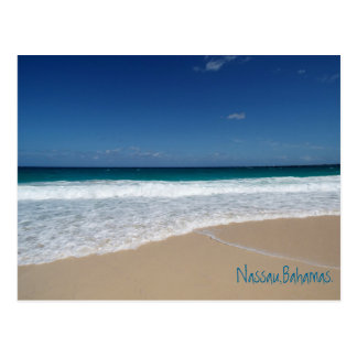 Beach of Nassau,Bahamas Postcard