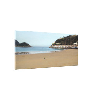 Beach of the Shell in Donostia - San Sebastián. Canvas Prints