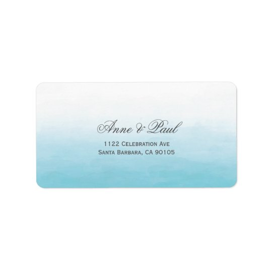 Beach ombre Address Labels
