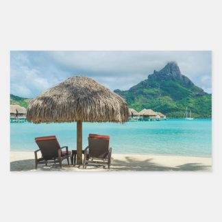 Beach on Bora Bora photo sticker