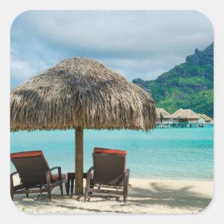 Beach on Bora Bora sticker