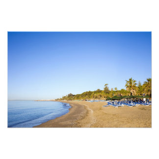 Beach on Costa del Sol in Marbella Photographic Print