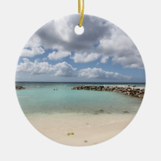Beach on De Palm Island - Aruba Christmas Ornament