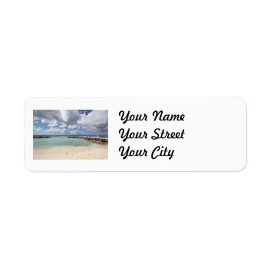 Beach on De Palm Island - Aruba Return Address Label