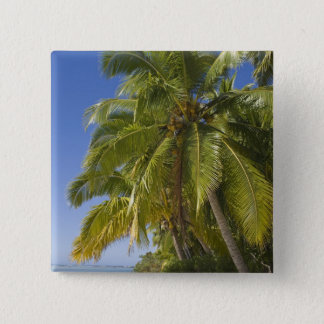 Beach on One Foot island, Aitutaki, Cook Islands 15 Cm Square Badge
