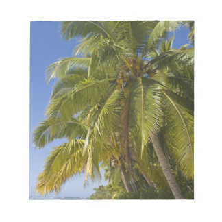 Beach on One Foot island, Aitutaki, Cook Islands Notepad