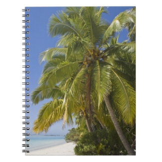 Beach on One Foot island, Aitutaki, Cook Islands Spiral Notebook