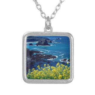 Beach Pacific Coastline Wildflowers Mendocino Custom Necklace