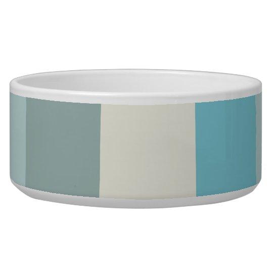 Beach Palette Stripe Dog Water Bowl