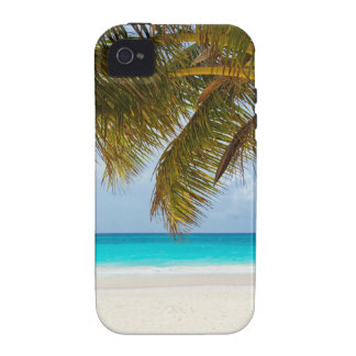 beach palm branches tree tropical island sand sea Case-Mate iPhone 4 cases