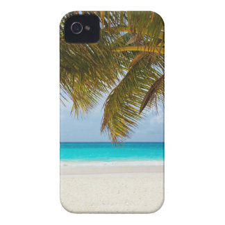 beach palm branches tree tropical island sand sea iPhone 4 cover