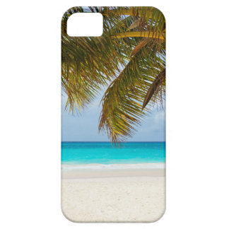 beach palm branches tree tropical island sand sea iPhone 5 cover