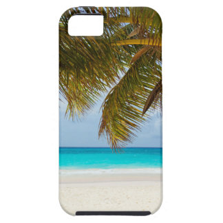 beach palm branches tree tropical island sand sea tough iPhone 5 case