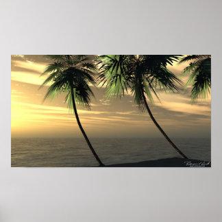 Beach Palm Sunset Print