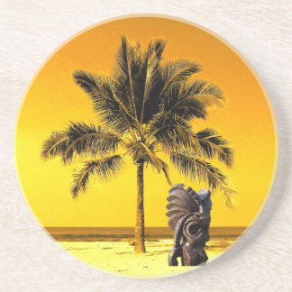 Beach Palm Tree Luau Coasters