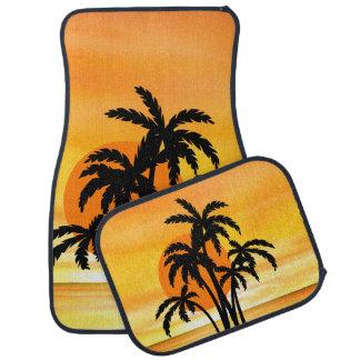 Beach Palm Tree Scenic Mats