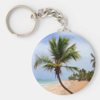 Beach Palm Trees Key Ring